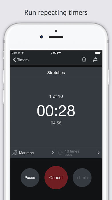 Timer+, Run repeating timers